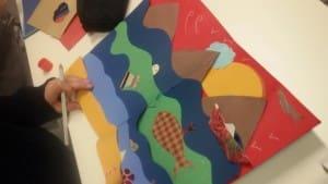 Arbos, da sempre legata al mondo della scuola e dell'infanzia, ha collaborato con l'associazione Rosso di Marte (http://www.rossodimarte.it/joomla/) che con le due storiche dell'arte Selena Favotto e Daniela Giordani che la gestiscono, propone laboratori alle scuole. È toccato, stavolta, alla scuola elementare Don Orione di Strà (provincia di Venezia) e, in particolare, a trenta piccoli artisti di due classi 5° elementare.