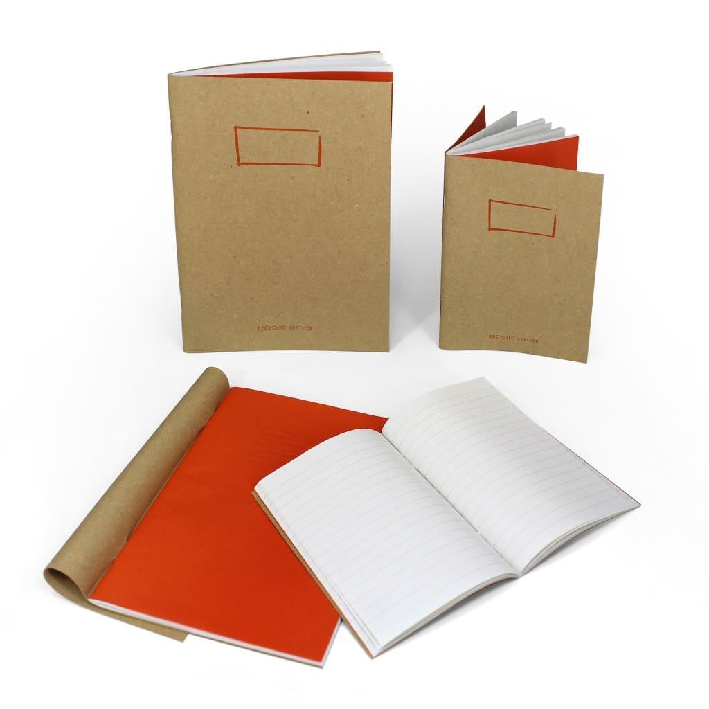 Quaderni in cuoio riciclato firmati arbos