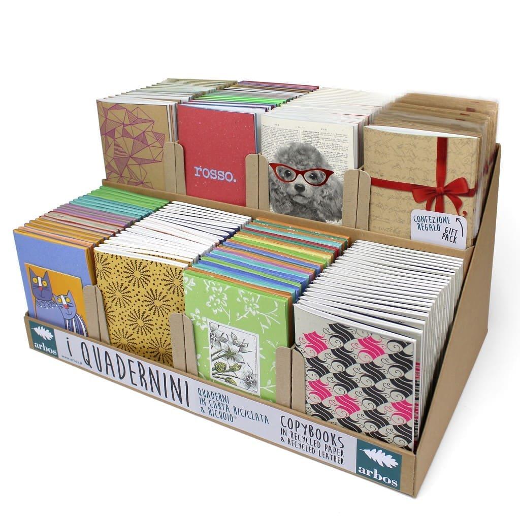 I quadernini in carta ecologica Arbos