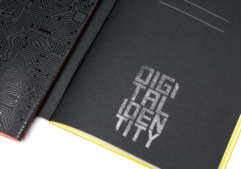 quaderno digital identity particolare stampa