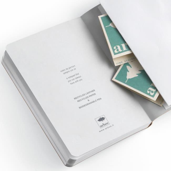 quaderni cuoio riciclato